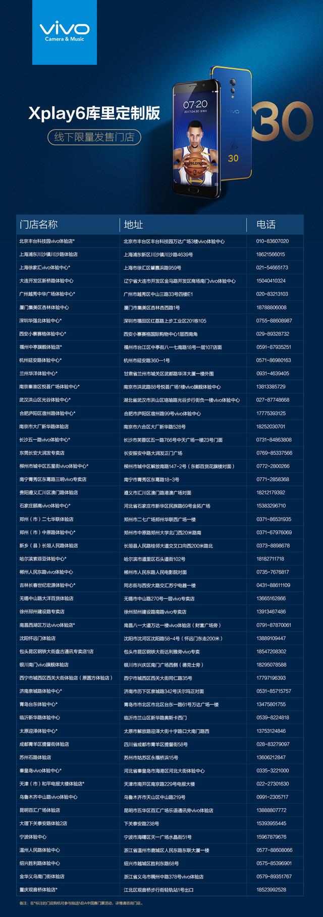 """看NBA""""猜三分"""" 赢vivo Xplay6库里定制版"""