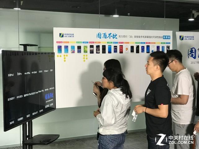 2017年中20款智能手机横评·屏幕素质