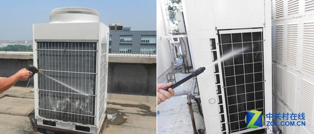 中央空调室外机的清洁 2、家用中央空调的清洁 家用中央空调的清洁主要包括:室内机换热器、墙面遥控器以及新风机的清洁。其实,家用中央空调的室内机构造与普通分体式空调室内机的结构并无太大区别,只不过一般内机都内置提升泵和水盘,能够及时的把冷凝水排出去。