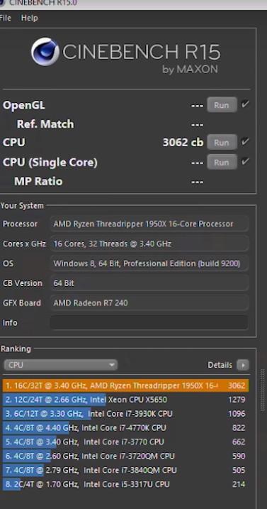 强无敌!AMD 16核CPU成绩横扫酷睿i9