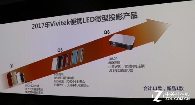 玩4K搞激光 Vivitek投影新品高达34款