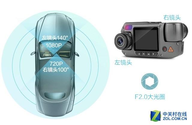双镜头无死角 DOD MX5记录仪仅599元