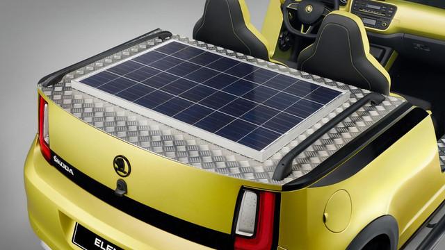 斯柯达Citigo变身电动沙滩车 配太阳能板