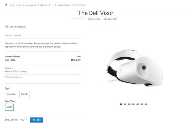 戴尔Visor开启预售 微软阵营又添新成员
