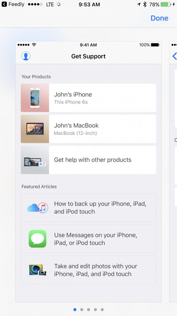 苹果推Apple Support 开启私人订制服务