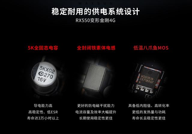 入门用户福音 铭瑄RX 550显卡强势出击