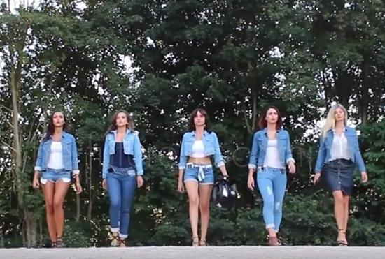 能导航的智能牛仔裤?美女穿着走路太亮