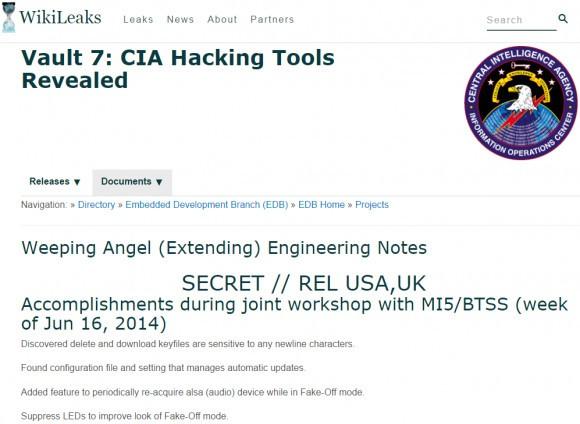 杀毒软件成摆设 维基解密公布CIA黑客实力