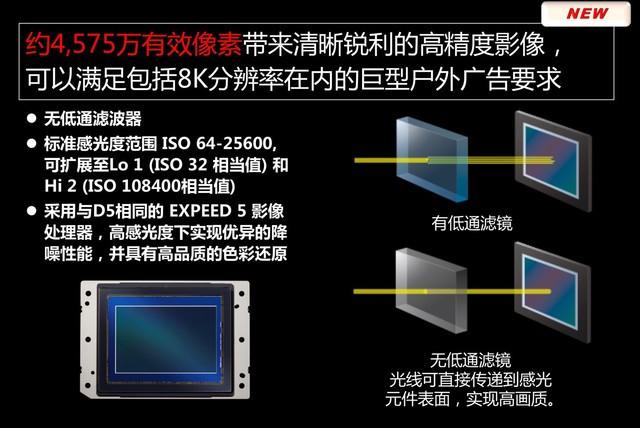 4575万有效像素ISO 64原生 D850参数泄露