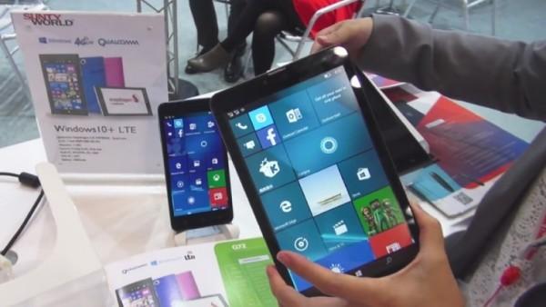 中国厂商sunty world正式推出运行windows 10 mobile的7/8英寸平板