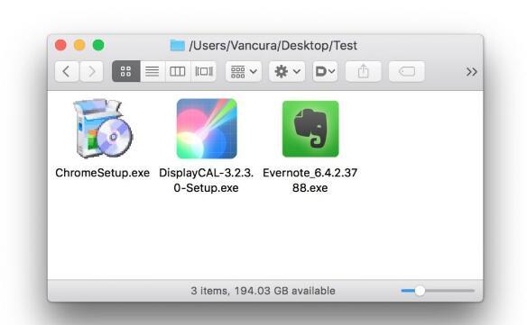 MacOS 10.12.4可正确显示exe后缀图标了