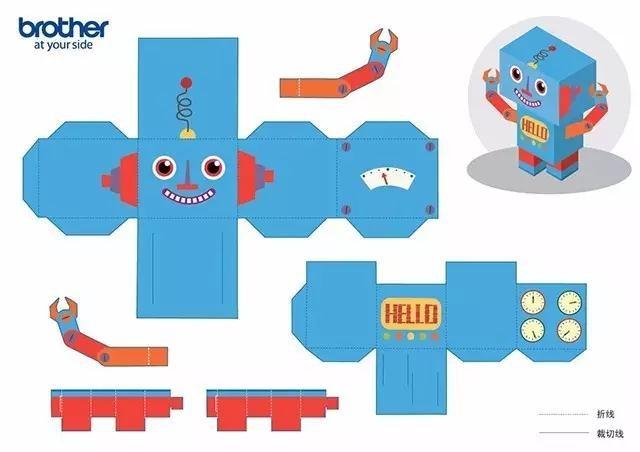 动动剪刀动动胶水,成型小机器人也很可爱