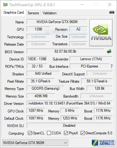 同门兄弟看强弱 GTX960M对比GTX950M D5
