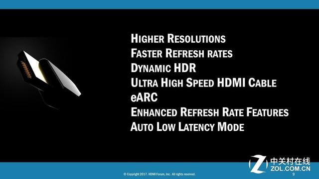 HDMI2.1公布:支持10K分辨率无延迟游戏