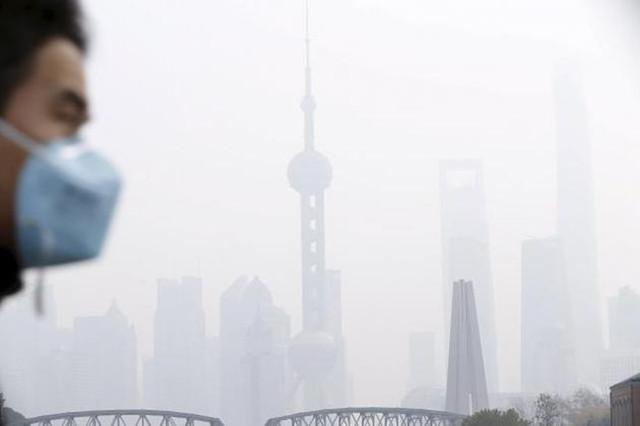 雾霾中的北京