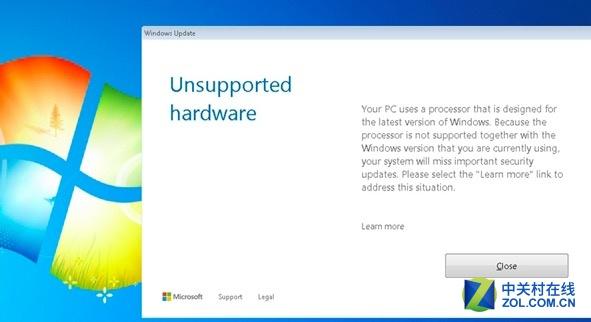 微软封堵Kaby Lake与Ryzen平台用户的Windows 7/8.1系统更新