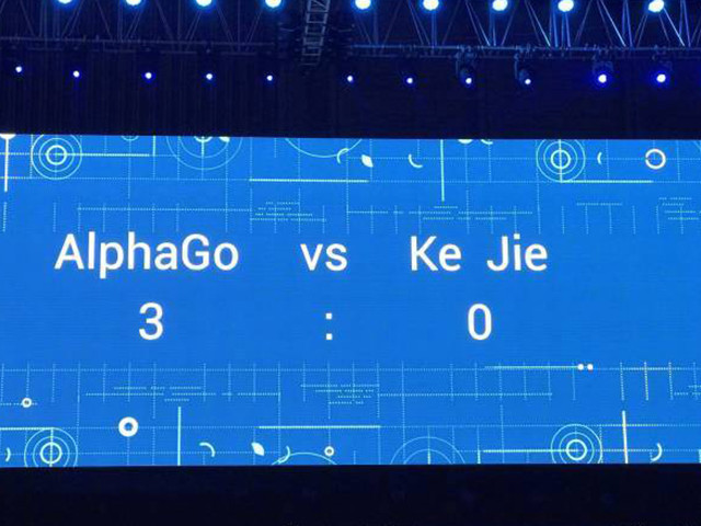 人机大战落幕 柯洁总分0:3负于AlphaGo