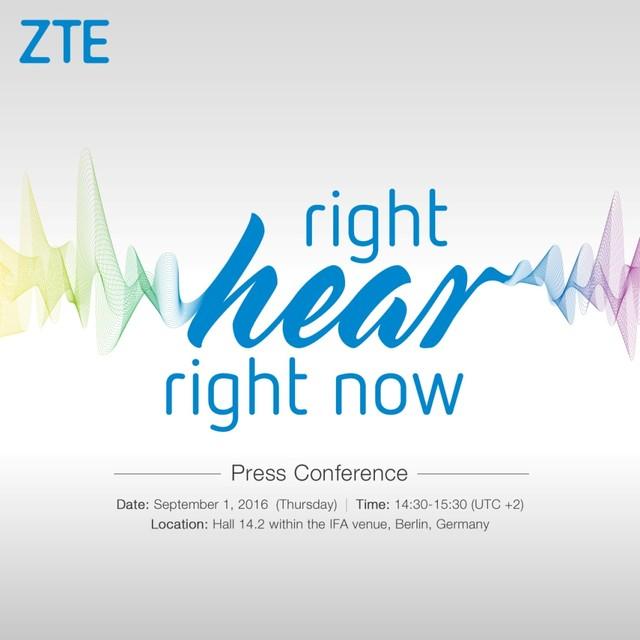 刷新智能手机听觉体验 中兴将携新品亮相IFA展