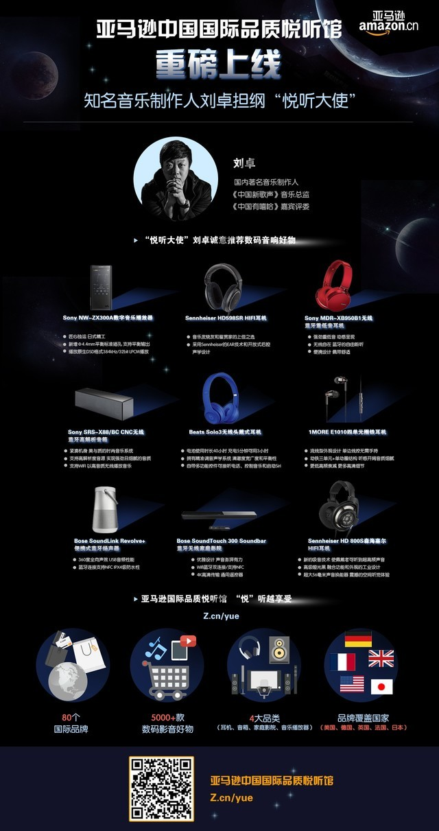 亚马逊中国携手知名音乐制作人刘卓权威发布音响设备网购消费报告