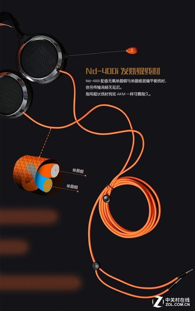 求生利器 艾芮克Nd-400i平板振膜耳机