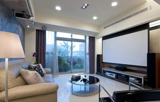 客厅投影背景墙设计