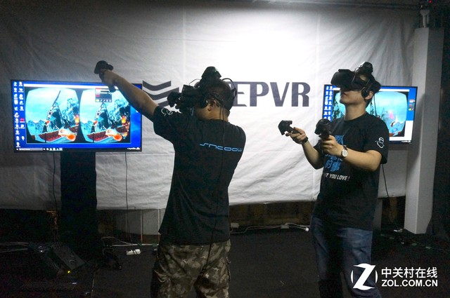 雪人科技联合STEPVR推国内首款大空间可移动多人作战VR游戏
