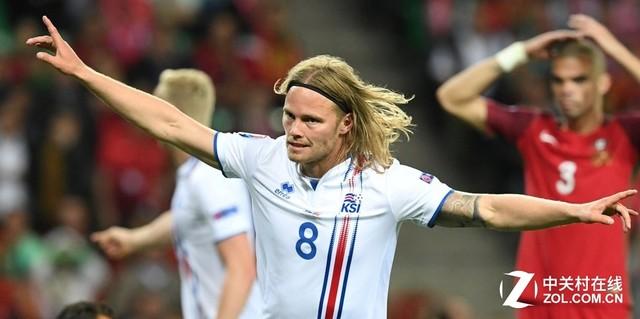 冰岛球员进球后庆祝