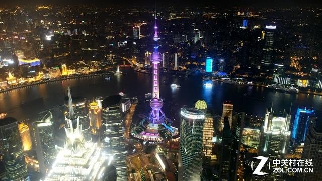 出师德魅力的表现_画质实战俯瞰浦东夜景_富士X-T2_数码影像评测-中关村在线