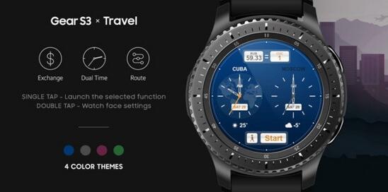 三星智能手表Gear S3新增三款全新表盘