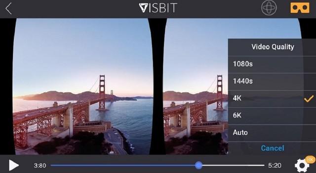 360度VR流媒体软件Visbit开启公测