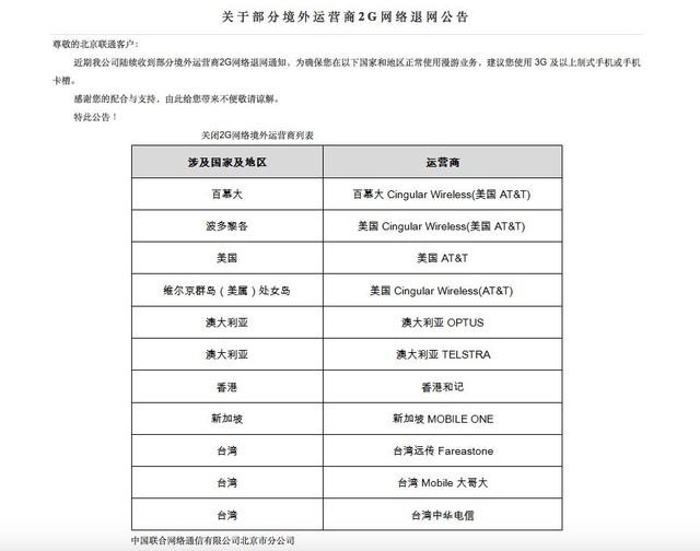 中国联通卡的用户出国前需要看这里