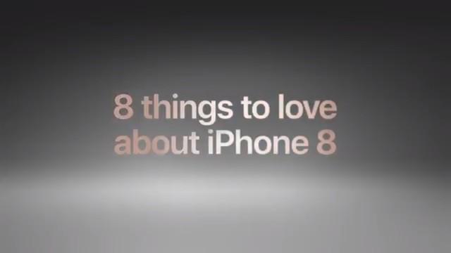 苹果发布iPhone8/8P新广告 列8大特点