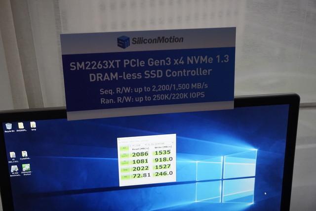 支持NVME 1.3标准 慧荣新主控台北展发布