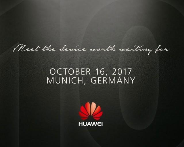 华为Mate 10发布确定:10月16日慕尼黑