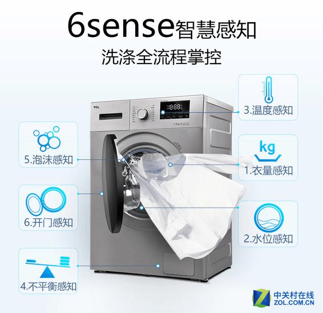 好筒洁净不伤衣物 TCL洗衣机优惠力度不减