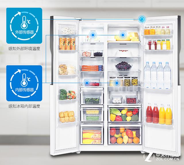 双循环制冷更保鲜 三星对开门冰箱月末钜惠