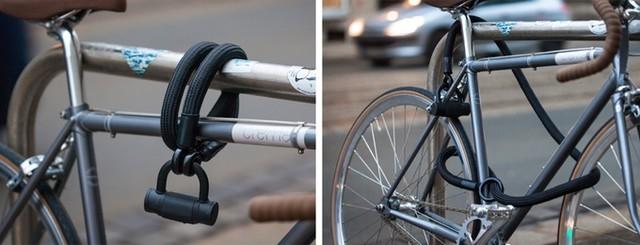 钢铁自行车锁最安全? 布条表示不服