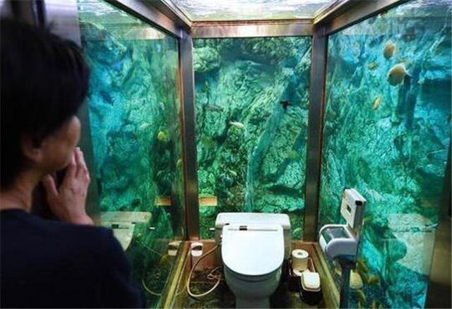 海底世界的卫生间,被鱼围观上厕所,不知道你好不好意思,不过比人