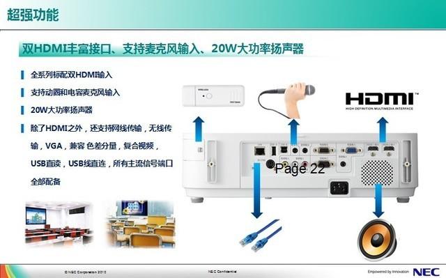NEC多用途全高清M323H+投影仪上海热卖