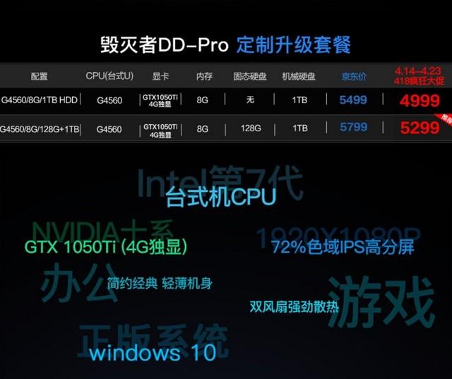 418疯狂大促 炫龙毁灭者DDPro低至4999
