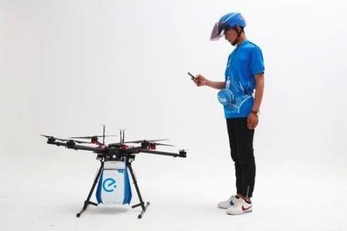 饿了么无人机亮相:最高飞行速度65km/h