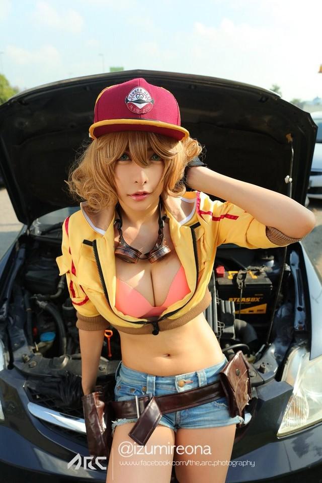 软妹COS《最终幻想15》 惹火女机械师