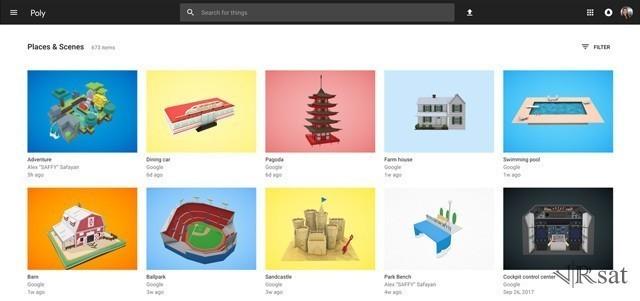 谷歌推出Poly平台:AR/VR模型一站式商店