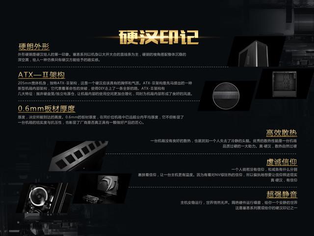 ATX-II代架构性能强 先马塞恩系列机箱