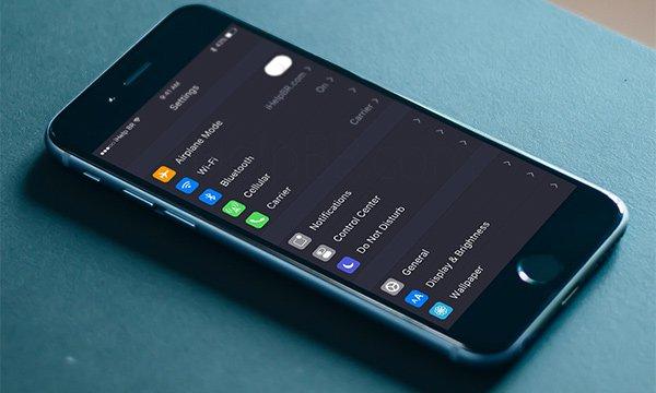 苹果iOS10 暗黑模式 截图正式曝光