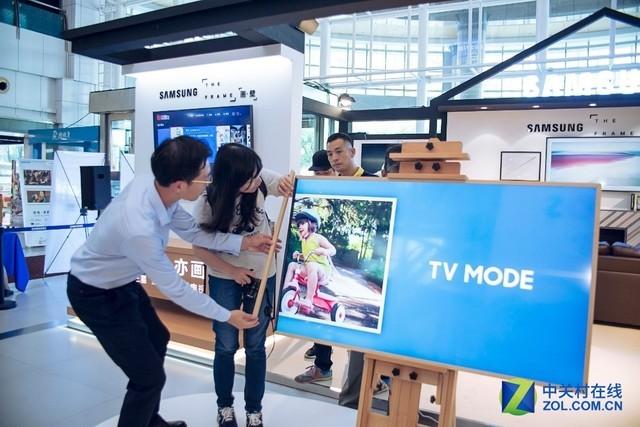 三星画壁艺术电视登陆中国!苏宁首发如虎添翼
