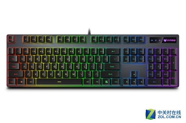 原厂血统 雷柏V806幻彩RGB背光游戏机械键盘上市