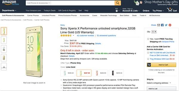 索尼X Performance美国降价抢 仅2526元