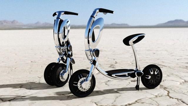 不是 可以自动折叠的电动车图片