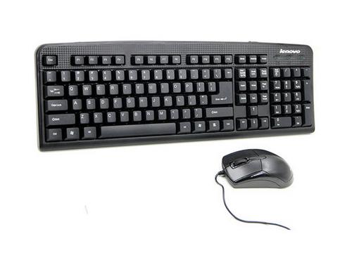 联想KM4800正品 usb有线办公键鼠套装